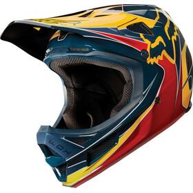 Fox Rampage Pro Carbon Kustom Helmet Men red/yellow